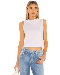 Enza Costa Drape Tシャツ - ホワイト