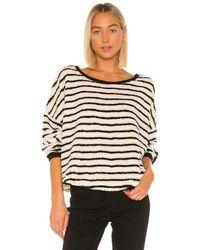 Free People Breton Striped Pullover - Black