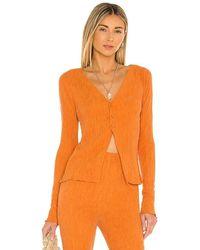 Camila Coelho Tais Long Sleeve Top - Orange