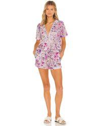 Generation Love Lenox Floral Pajama Set - Pink