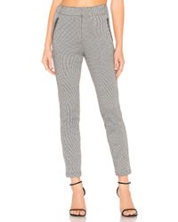 1.STATE - Knit Puppytooth Zip Slim Leg Pant In Grey - Lyst