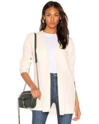 Monrow - Cashmere Blend Hooded Wrap Cardigan - Lyst