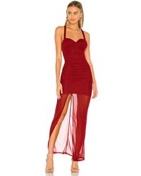 MAJORELLE Bianca Maxi Dress - Rot