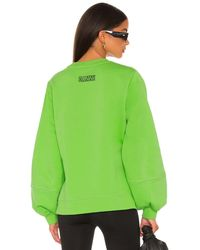 Ganni Свитшот В Цвете Flash Green - Зеленый