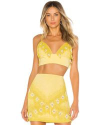 X By NBD Marley Embellished Top - Yellow