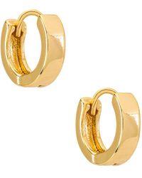 Natalie B. Jewelry Серьги-кольца Marga В Цвете Золотой - Металлик