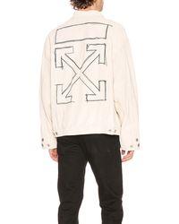 Off-White c/o Virgil Abloh Taft Point Leather Jacket - Natur