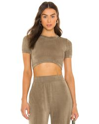 Alix NYC TOP CROPPED JAMES - Gris