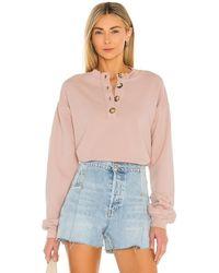 Tularosa Henley スウェットシャツ - ピンク