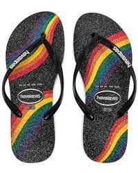 Havaianas Slim Pride ビーチサンダル - ブラック