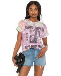 Daydreamer Camiseta gráfica janis joplin freedom - Morado