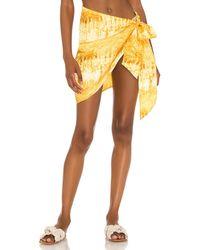 House of Harlow 1960 X Sofia Richie Sadie Sarong Skirt - Yellow