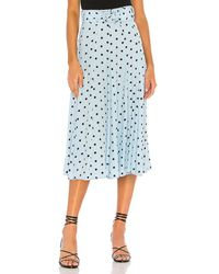 Faithfull The Brand Luda Midi Skirt - Blue