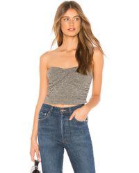 Rachel Pally - Metallic Rib Sweater Layla Top In Charcoal - Lyst