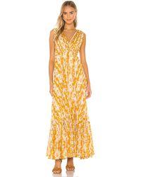 Mes Demoiselles Макси Платье Samarcande В Цвете Желтый Комбо