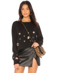 Black Orchid - Cropped Sweatshirt With Eyelets - Lyst