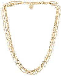 Cloverpost Knit Necklace - Metallic