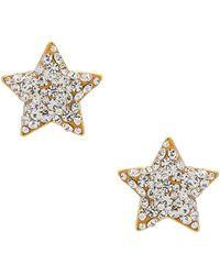 Lele Sadoughi Серьги Jeweled Star Button В Цвете Кристальный - Металлик