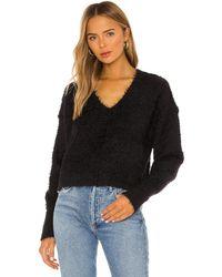 Free People Пуловер Icing V В Цвете Черный