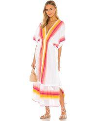 lemlem Платье Миди Teref В Цвете Шамотный Кирпич - White. Размер L (также В M, S, Xs). - Белый