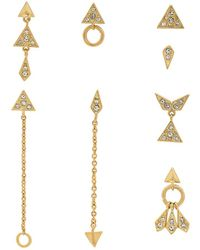 Luv Aj - The Pave Kite Mixed Earring Set In Metallic Gold. - Lyst