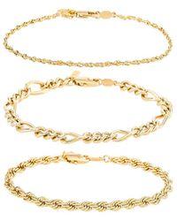 Natalie B. Jewelry Набор Браслетов Triple Crown В Цвете Золотой - Металлик