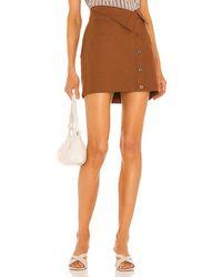 L'academie Perla Mini Skirt - Brown