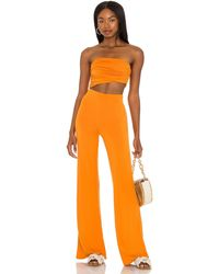 House of Harlow 1960 X Sofia Richie Sosa Jumpsuit - Orange