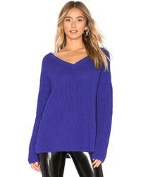 525 America V-neck Sweater - Blue