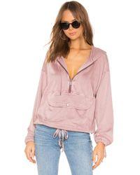 Splendid - Pocket Hoodie In Pink - Lyst