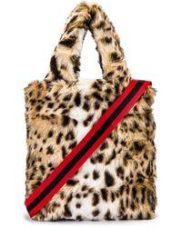 Pam & Gela Leopard Faux Fur Bag - Mehrfarbig