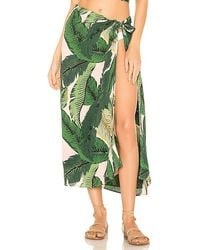 Beach Riot X Revolve Palm Sarong Cover Up - Green