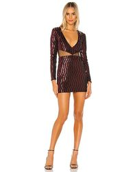 superdown Kim Deep V Mini Dress - Black