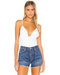 GRLFRND Micki Bodysuit - White