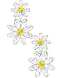 For Love & Lemons Marguerite Crystal Earrings - White