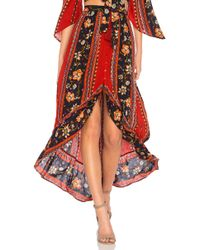 Band Of Gypsies - Bohemian Ruffle Skirt - Lyst