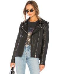 Urban Outfitters Oversized Moto Jacket - Black