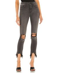 L'Agence High Line High Rise Skinny Destructed - Gray