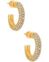 Natalie B. Jewelry Rumi フープ - メタリック