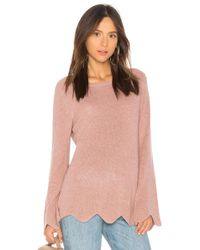 Michael Stars - Cashmere Scalloped Jumper - Lyst
