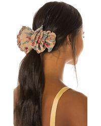 Loeffler Randall Tavi Ruffle Hair Clip - Brown