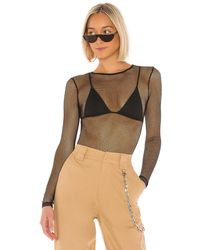 superdown Tyarra Fishnet Bodysuit - Schwarz