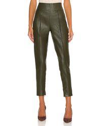 Line & Dot Kiara Faux Leather Pant - Green
