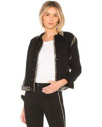 L'Agence - Celine Studded Jacket In Black - Lyst