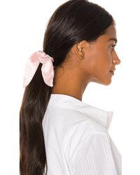 DONNI. Silk Chiquita Scrunchie - Pink