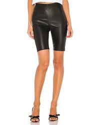 GRLFRND Carter Leather Bicycle Shorts - Black