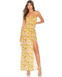 superdown Lorie Slit Maxi Dress - Yellow