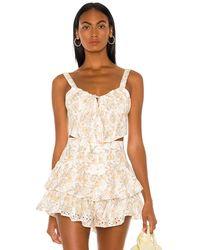 Bardot Broderie corset top - Blanco