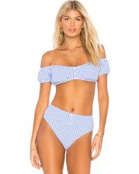 Nanette Lepore Top Bikini Tease - Azul