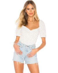 03f57a7999e63c Bardot Off-the-shoulder Top in White - Lyst